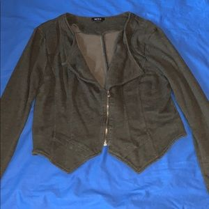 NWOT Gray Size 2 zip blazer from Torrid